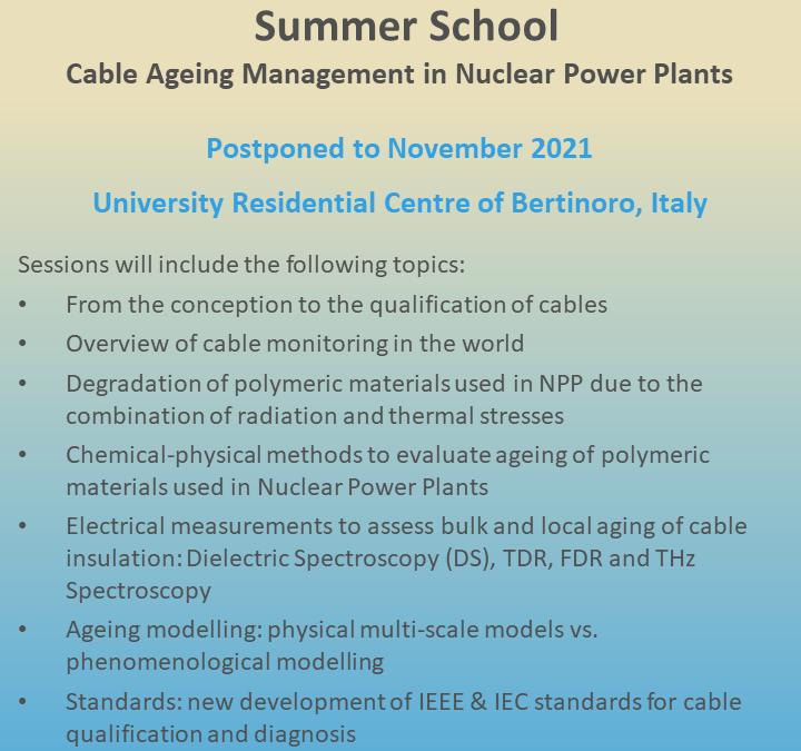 TeaM Cables Summer School in Italy – postponed to November 2021